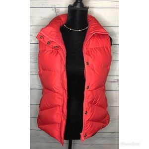 J.Crew pink bubble vest small